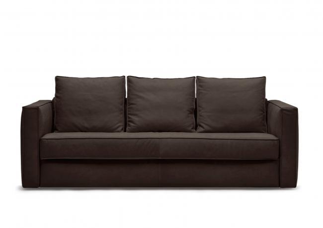 canape lit en cuir robinson 3 places cm l 215 x p