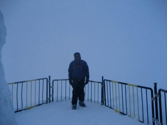 Au départ de l'Aiguille du Midi, ambiance...