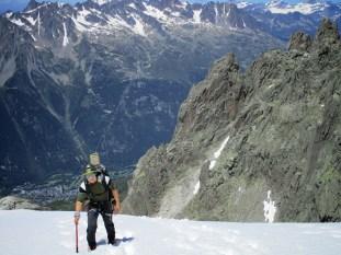 Le glacier de Nantillons, l'endroit le plus dangereux de l'ascension