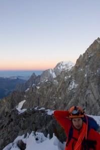 Le soleil se lève sur le Mont Blanc