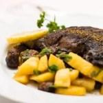 Köstliches Rezept für Seitan Fisch und Kartoffeln in Petersilie gebraten