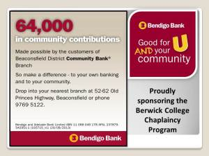 Bendigo Community Bank - Website