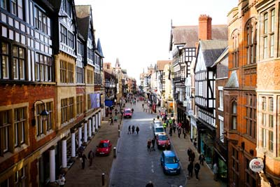 Chester from the Eastgate Clock