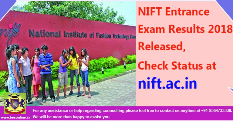 NIFT Entrance Exam Results 2018 Released