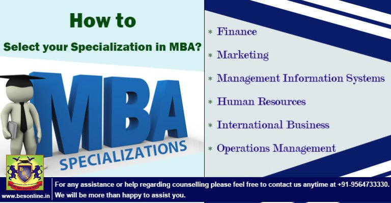 How to Select your Specialization in MBA