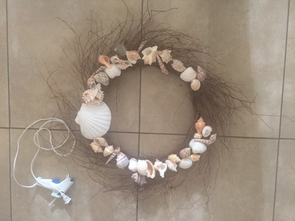 diy sea shell wreath