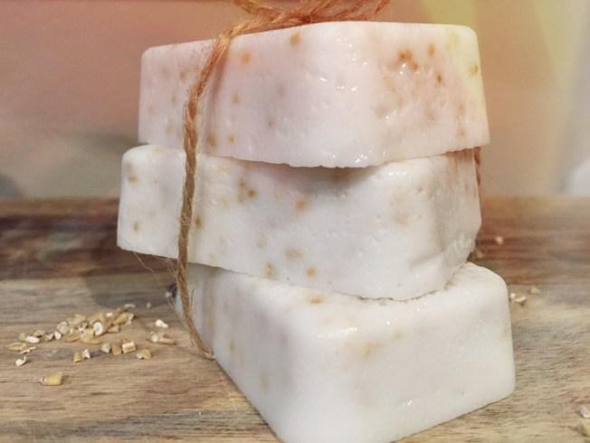 Homemade Coconut Oatmeal Soap 1