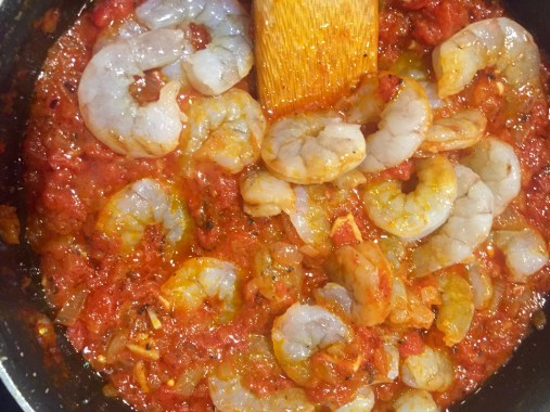 Sunday Supper- Shrimp and Lump Crab Fra Diavolo