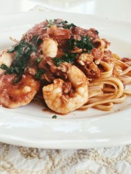 make this spicy shrimp and crab fra diavolo pasta for sunday supper
