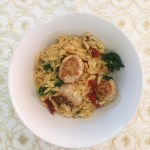 easy semi homemade recipe with chicken and orzo from Trader Joe's
