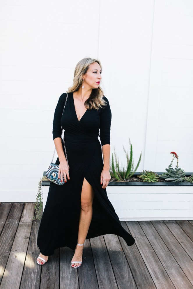 An ode to the best little black wrap dress