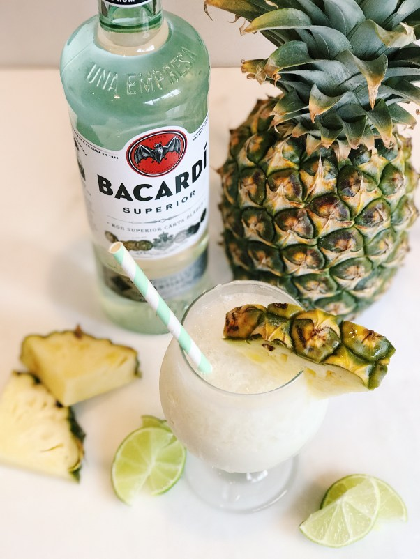 authentic pina colada with bacardi rum [ ad] #besosalina