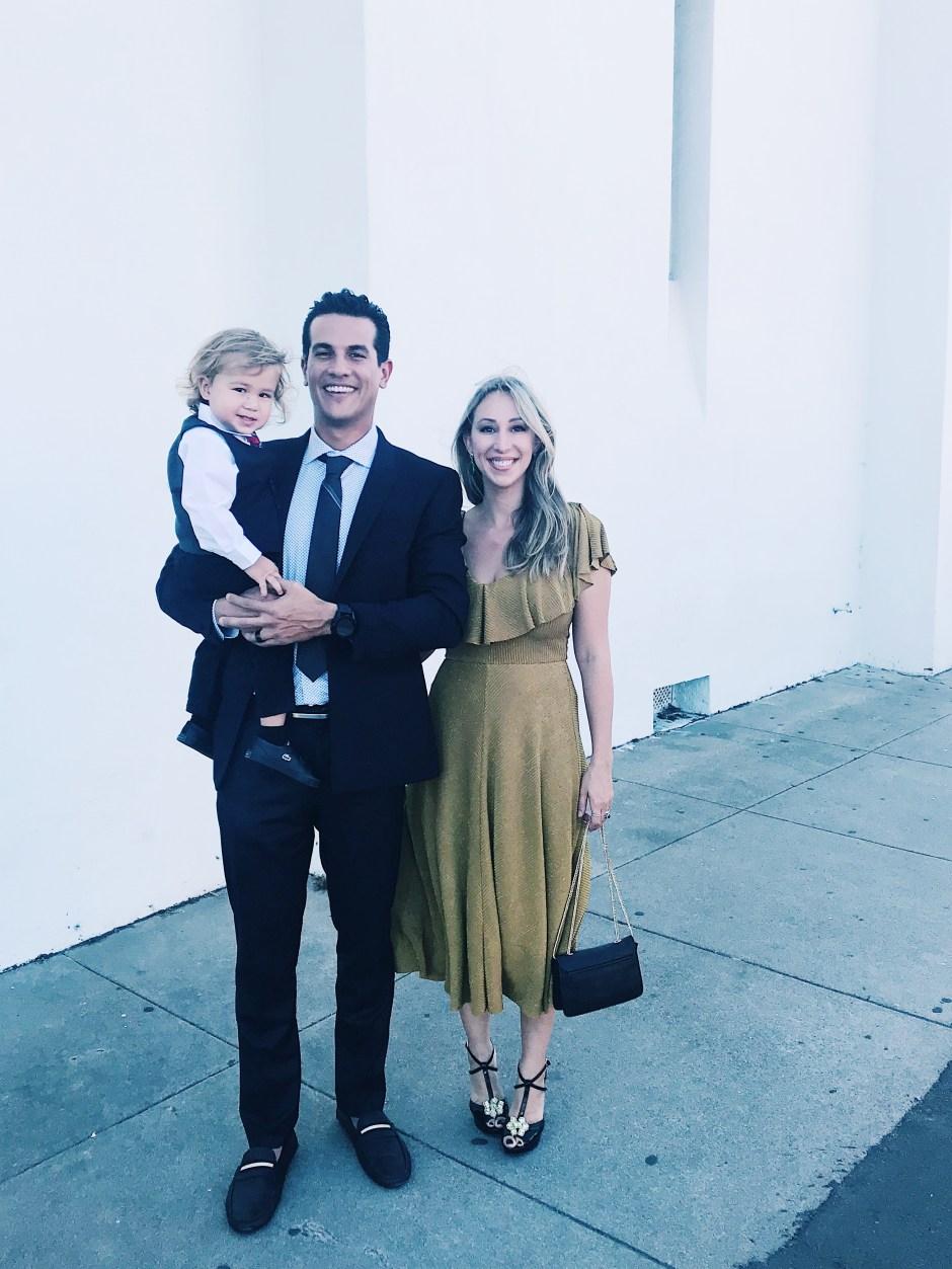 family fall wedding style