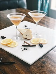 spicy pear cocktail