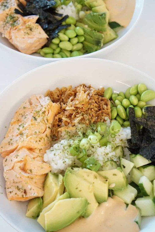 warm lunch ideas with salmon inspired by sushi