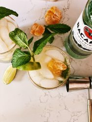 low calorie mojito with tangerines