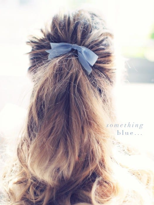 PARTYLISS Something Blue Hair Ribbon