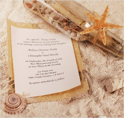 Bliss Message In A Bottle Invitation