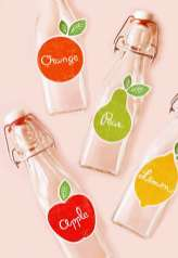 Eat Drink Chic Free fruit label printables 32