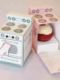 Retro Cupcake Boxes