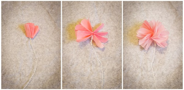 Home diy how to make mini tissue paper flowers in a vase bespoke now place your pretty tissue paper flower mightylinksfo