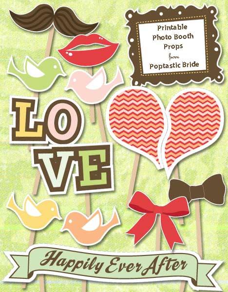 10 FREE Photo Booth Prop Printables!   Bespoke-Bride ...