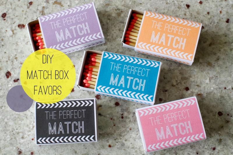 DIY matchbox favors