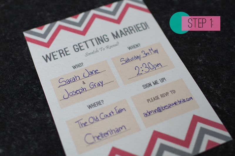 Scratch Card Wedding Invite DIY 1
