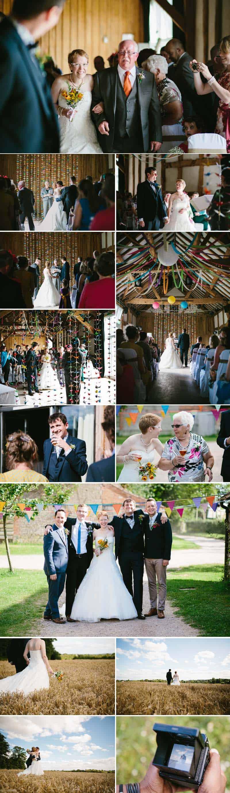 A Handmade Barn Wedding With A Thousand Paper Cranes