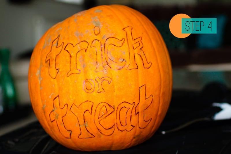 DIY Pumpkin painting home crafts trick or treat decoration 4