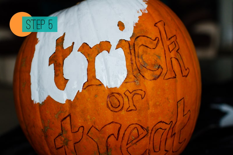 DIY Pumpkin painting home crafts trick or treat decoration 5