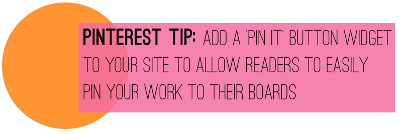 Pinterest Tip Pin It Button