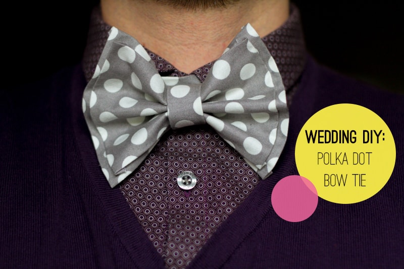 DIY How To Make A Bow Tie Polka dot Wedding DIY