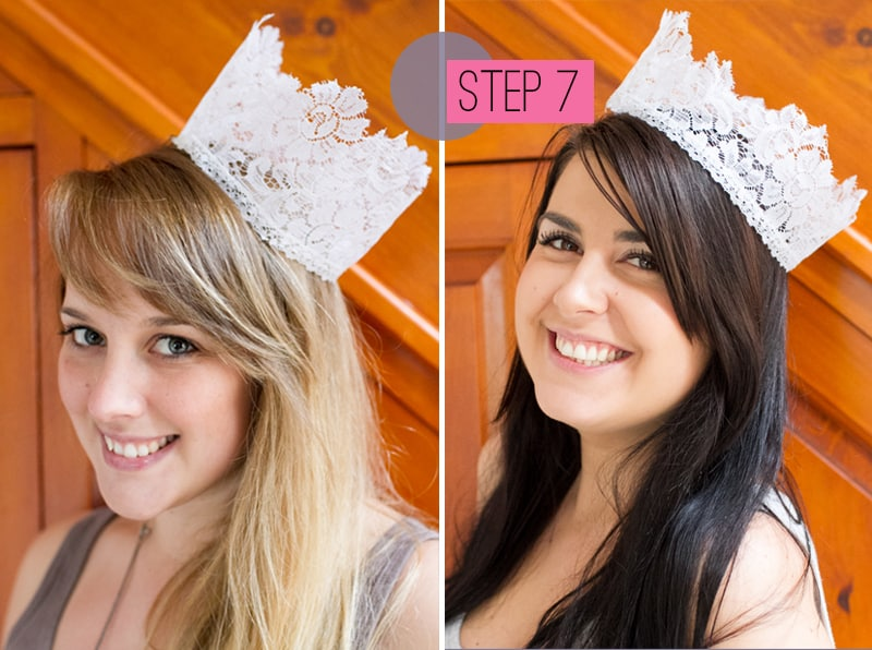 Lace Crowns WEDDING DIY
