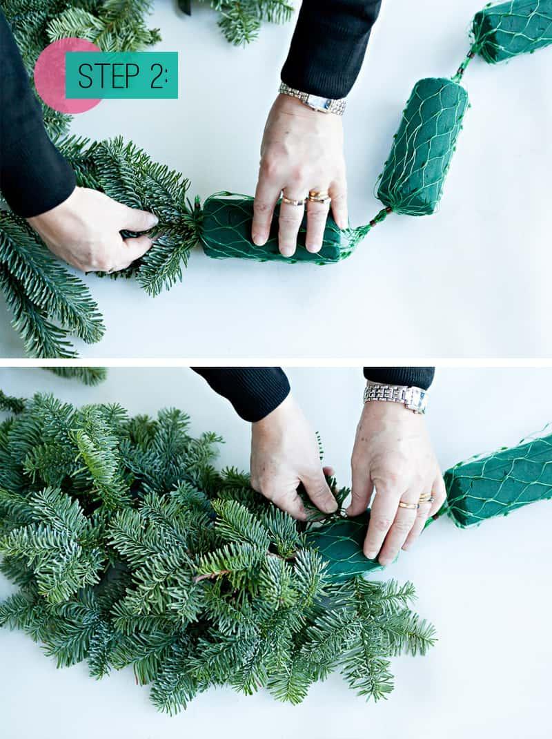 Step 2- Add spruce to foam (2)