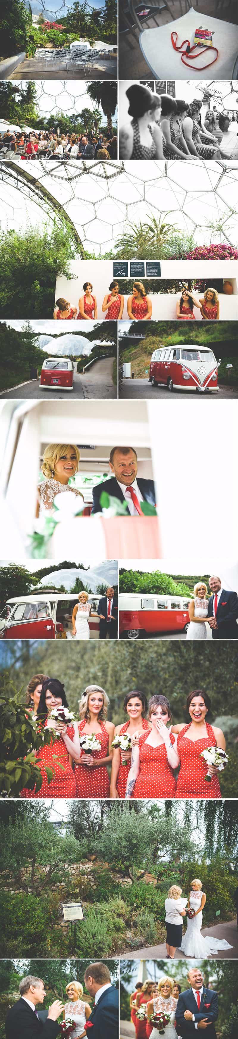 Glastonbury Eden Project Wedding Zip Lining Festival Themed 2