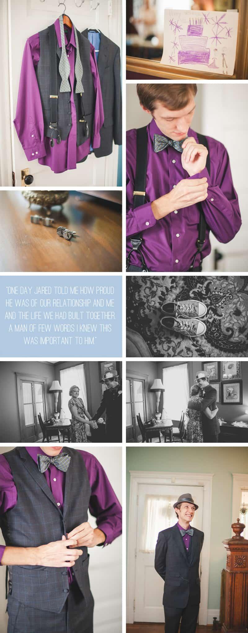 A Purple Wedding Dress For a Backyard Wedding 3