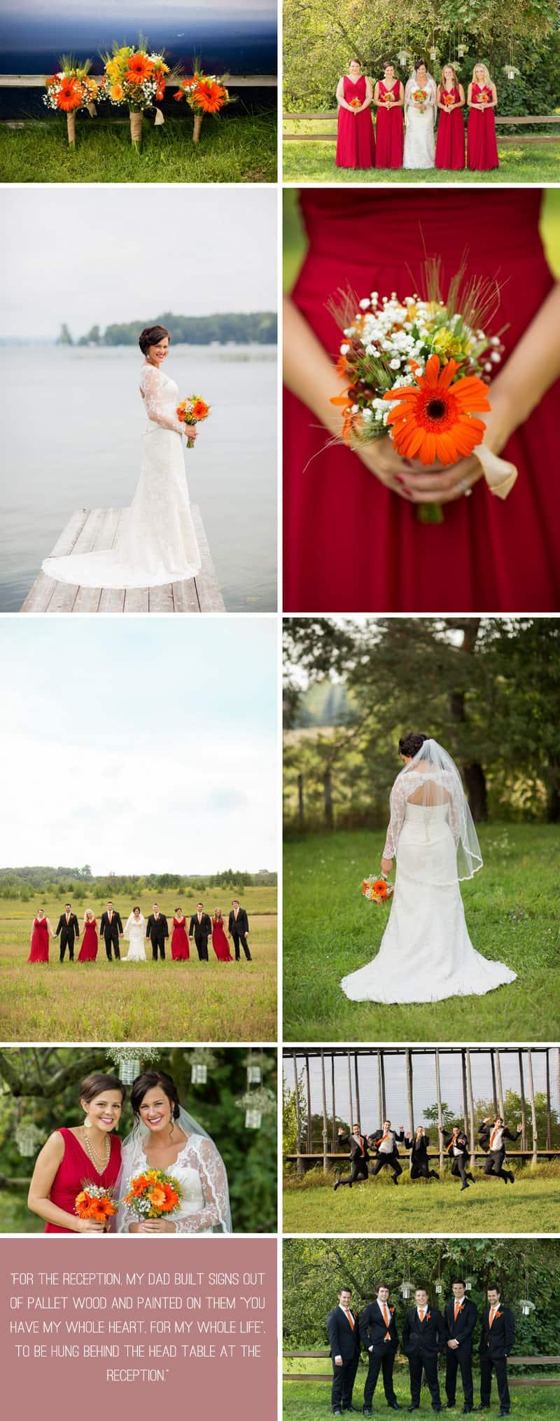 A Romantic Fall Wedding in a Rustic Barn 4