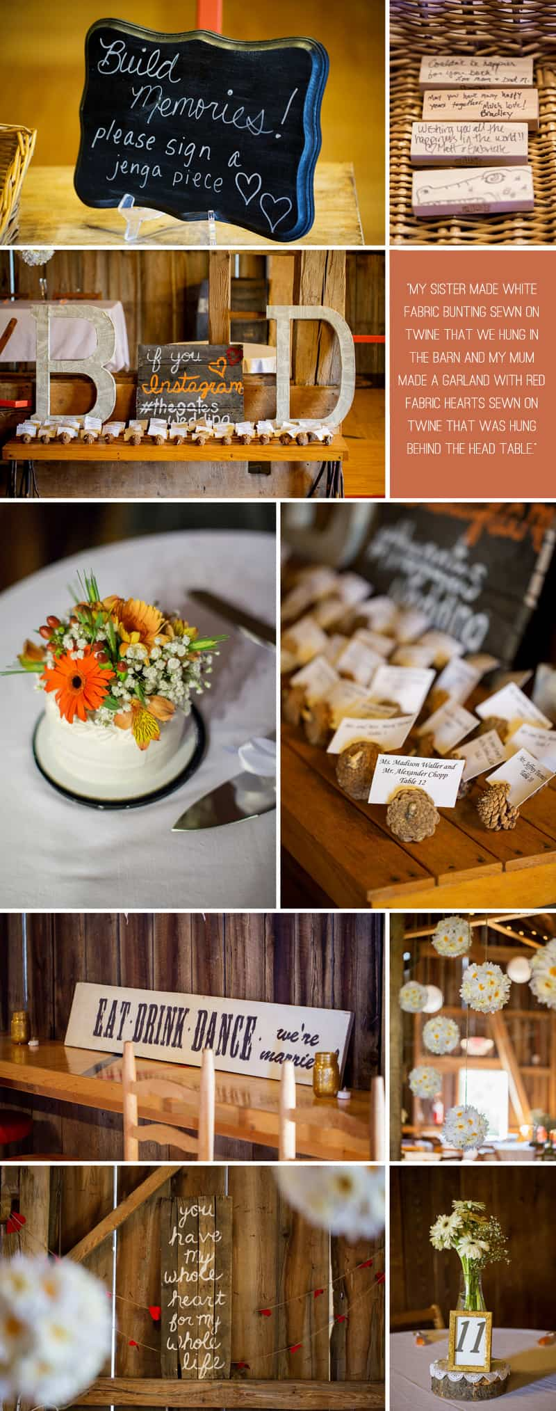 A Romantic Fall Wedding in a Rustic Barn 6