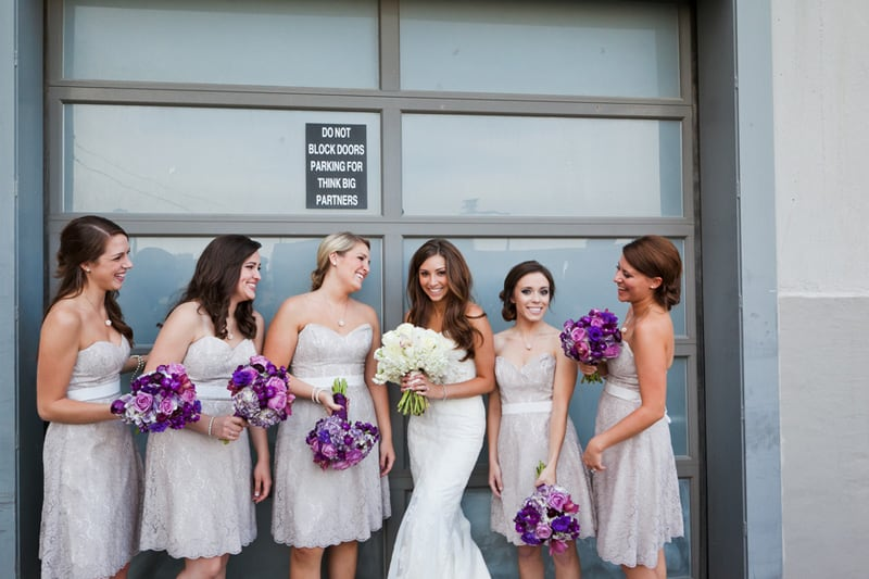 A Modern Chic Wedding Dressed in College Colours 3