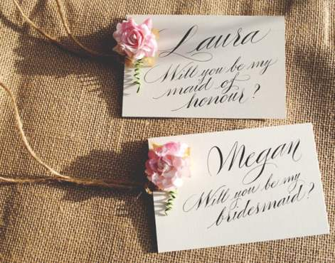 Will-you-be-my-bridesmaid-calligraphy-rose-card