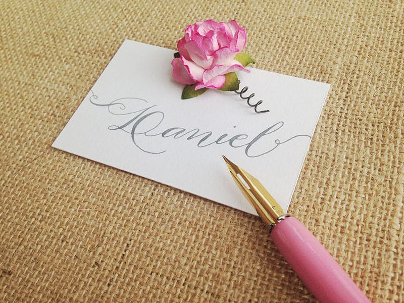 tea-party-rose-calligraphy-place-settings