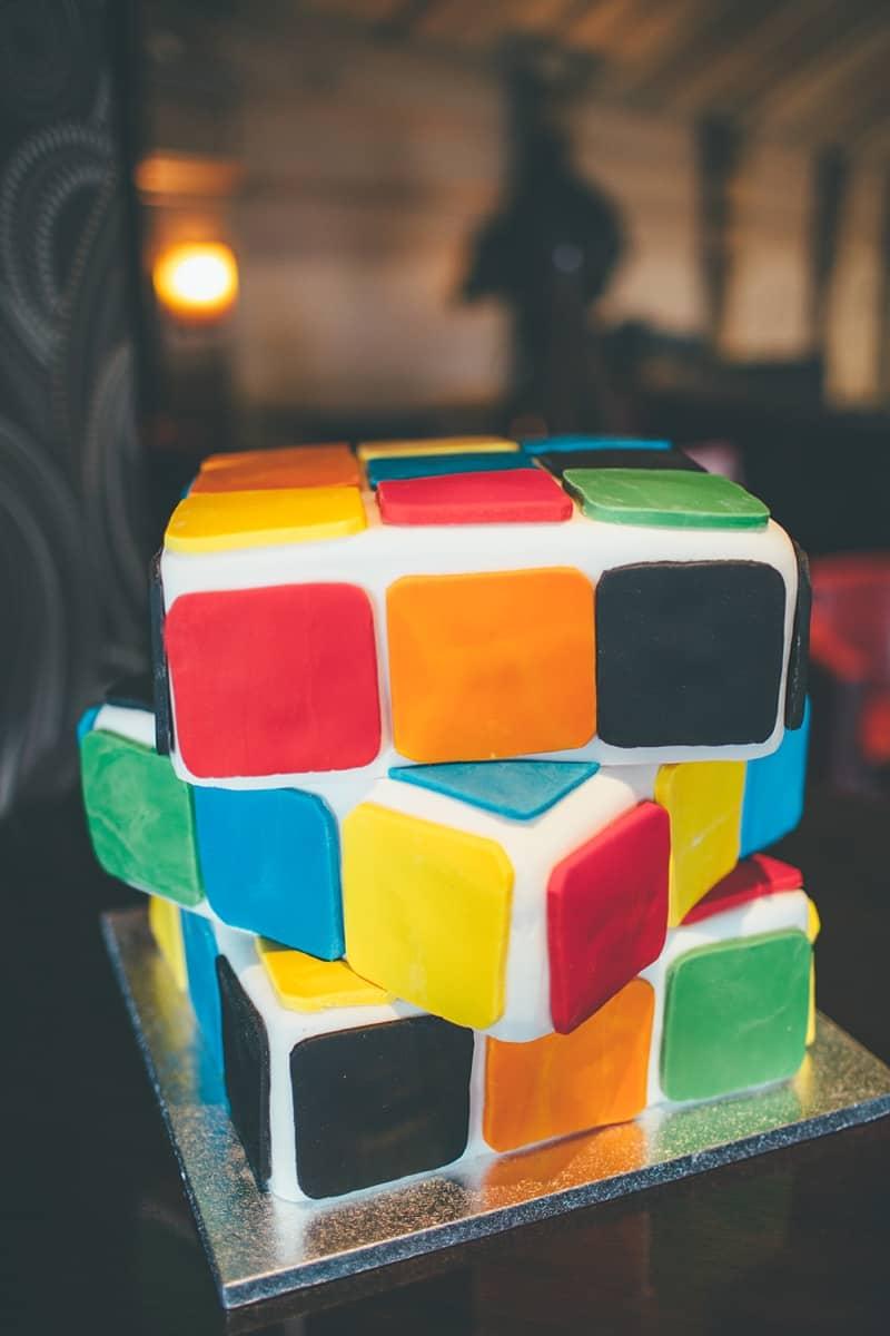 Rubix Cube Wedding Cake