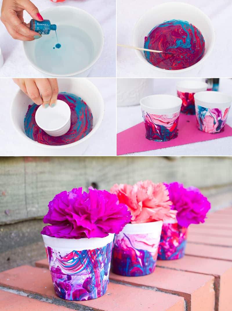 Nail Polish Marble Effect Favour Pot DIY Tutorial