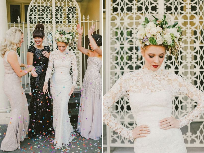 A Stylists Vision Brought to life in her Wedding. Photography by Lara Hotz via Burnetts Board
