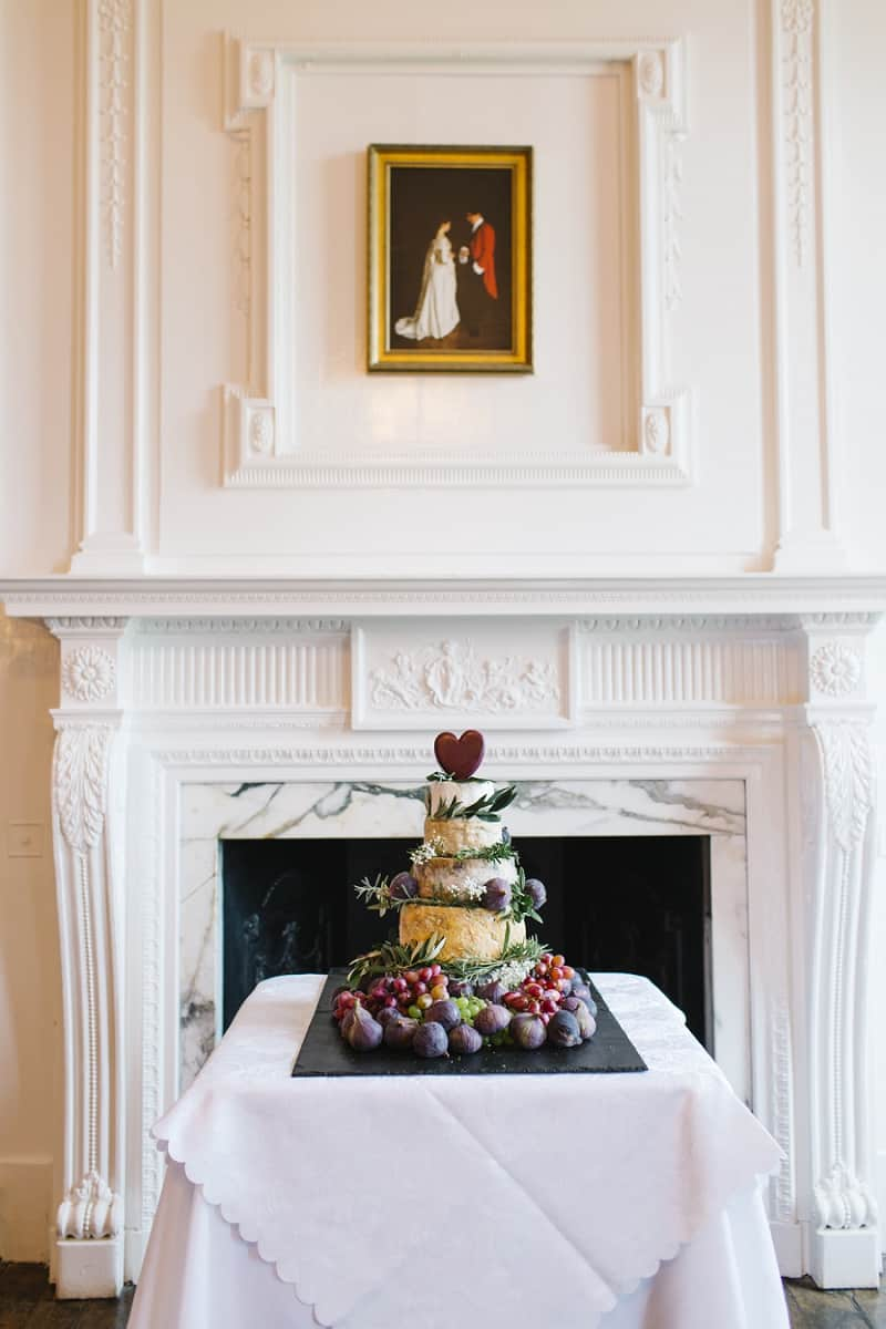Quirky wedding cake made of cheese