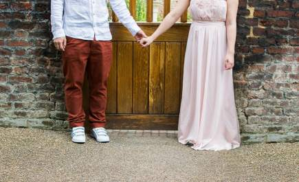 Cute Quirky Engagement Shoot Valentines Park-6
