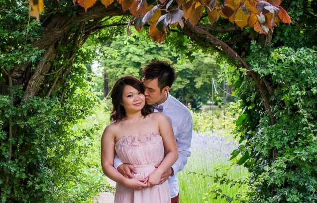 Cute Quirky Engagement Shoot Valentines Park-9