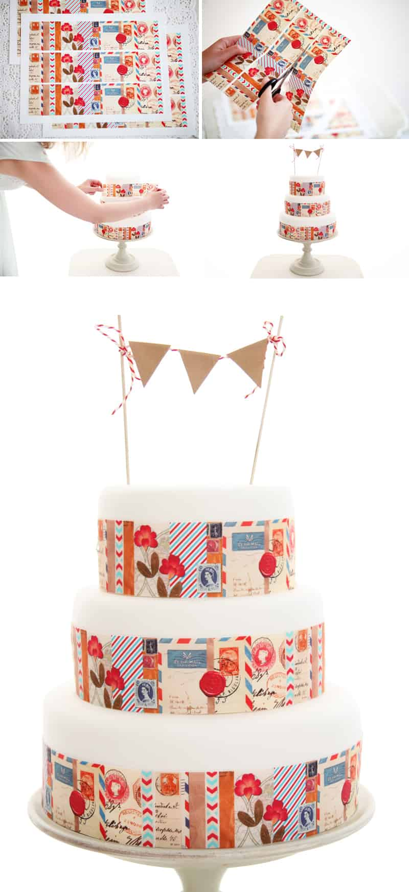 Edible Cake Icing DIY Collage