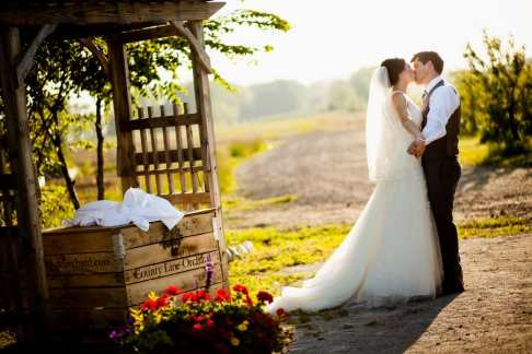 A Rustic Country Romantic Apple Orchard Barn Wedding Indiana 44